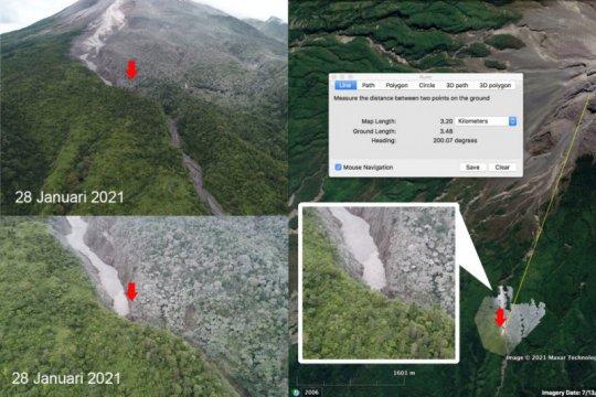 BPPTKG menerbangkan drone pastikan jarak luncur awan panas