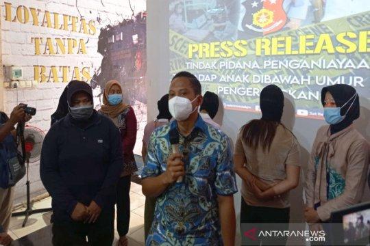 Polisi tetapkan tiga tersangka penganiaya ABG di kamar hotel