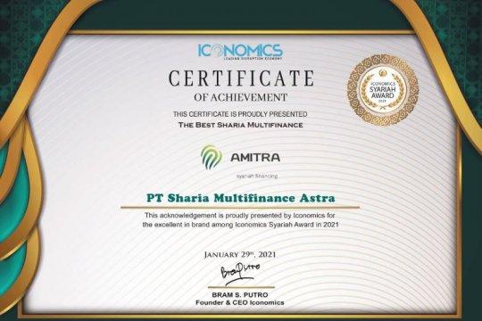 AMITRA Astra raih penghargaan The Best Sharia Multifinance 2021