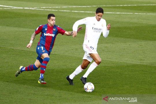 Liga Spanyol: Levante tumbangkan Real Madrid 2-1