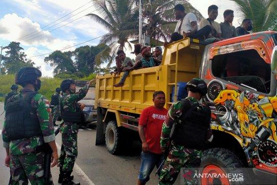 Satgas Yonif 312/KH tingkatkan pemeriksaan di perbatasan RI-PNG