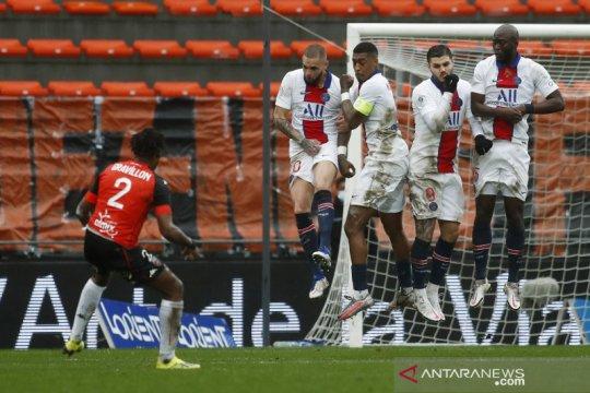PSG dipermalukan Lorient setelah lengah di akhir laga