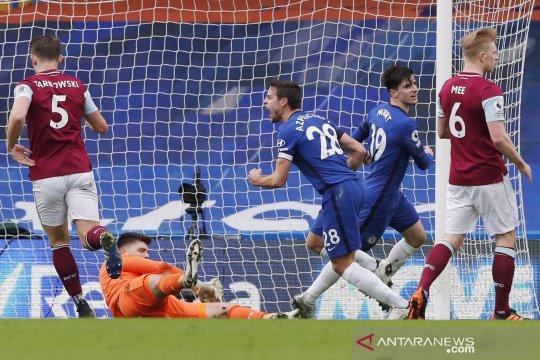 Liga Inggris: babak I Chelsea unggul 1-0 atas Burnley