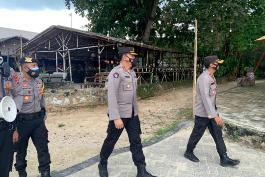 Kabid Humas Polda Lampung pantau prokes di Kabupaten Lampung Selatan