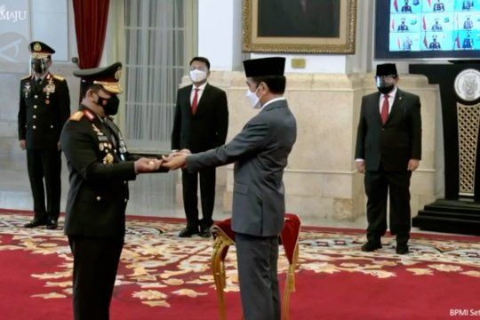 Presiden lantik Komjen Listyo Sigit Prabowo sebagai Kapolri
