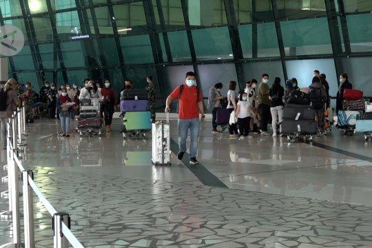 Suasana kedatangan internasional di Terminal 3 Bandara Soetta