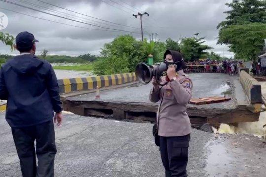 Jembatan di Kabupaten Banjar putus dihantam aliran sungai