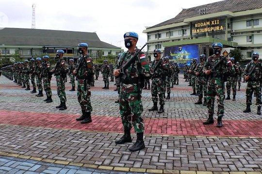 Kodam XII Tanjungpura berangkatkan 850 personel ke Afrika Tengah
