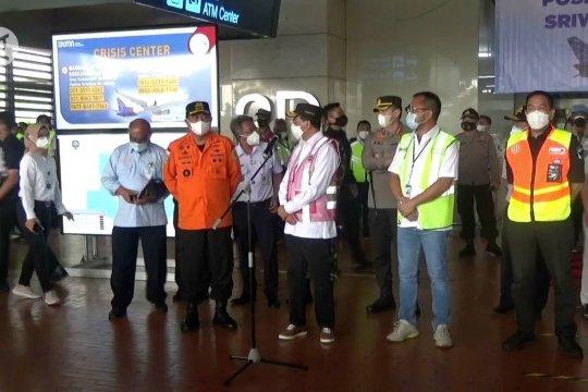 Menhub Budi janji maksimalkan pencarian korban pesawat Sriwijaya Air