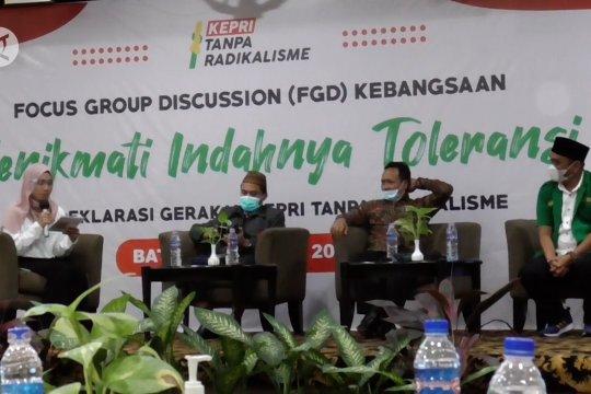 Pemuda Kepri deklarasikan gerakan tanpa radikalisme