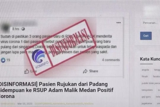Kementerian Kominfo catat 2.000 lebih hoaks, 30 persen ujaran kebencian