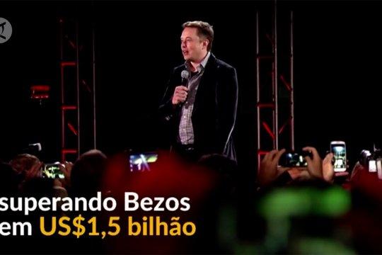 Musk mengalahkan Bezos sebagai orang terkaya di dunia