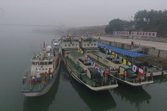 Patroli gabungan ke-101 di Sungai Mekong dimulai