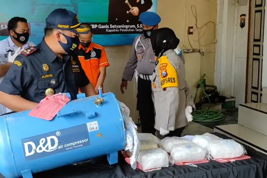 Polisi Surabaya gagalkan penyelundupan narkoba asal Malaysia