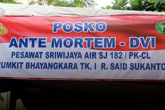 Pos antemortem buka 24 jam, layani keluarga penumpang Sriwijaya Air