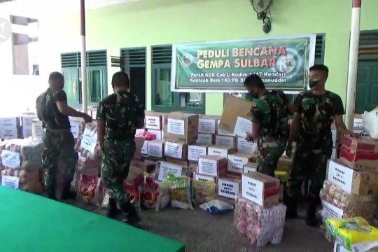 Kodim Kendari salurkan bantuan bagi korban gempa Sulbar