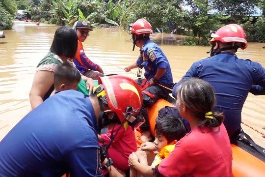 Sungai Martapura meluap, rendam 6 desa di  Kabupaten Banjar