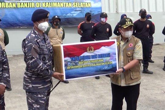 TNI AL salurkan bantuanlogistik korban banjir Kalsel
