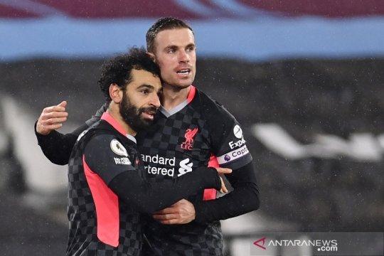 Liverpool sodok tiga besar setelah pungkasi tren positif West Ham