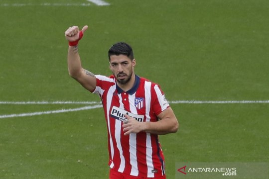 Suarez kuasai daftar top skor Liga Spanyol dengan 14 gol