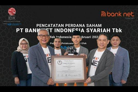 Bank Net Indonesia Syariah dan Damai Sejahtera Abadi melantai di bursa
