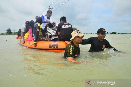 Jumlah wilayah terdampak banjir di Kabupaten Kudus mencapai 16 desa