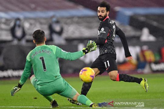 Mohamed Salah antar kemenangan Liverpool 3-1 atas West Ham United