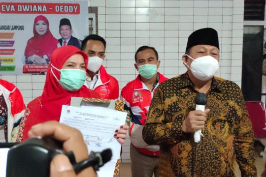 KPU Bandarpampung tetapkan kembali paslon Eva-Deddy peserta pilkada
