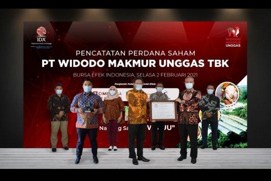 Perusahaan ternak ayam Widodo Makmur Unggas melantai di bursa