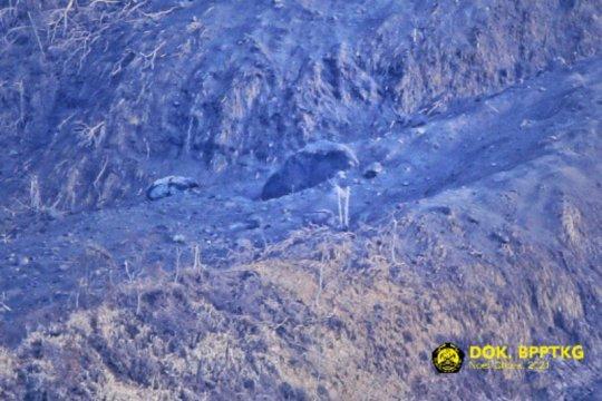 BPPTKG tegaskan material hitam di lereng Merapi bukan kubah lava baru