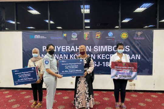 Jasa Raharja telah serahkan santunan 57 korban Sriwijaya Air