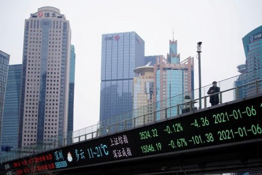 Saham China berakhir naik karena dorongan likuiditas bank sentral