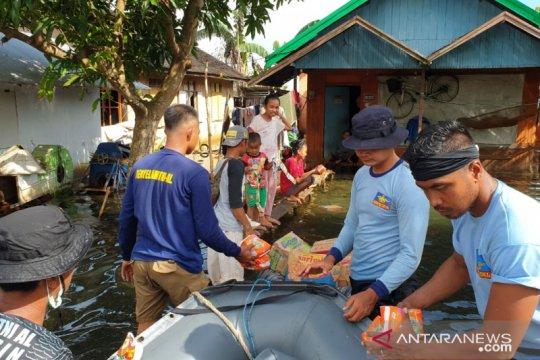 TNI AL: Masih banyak rumah yang terendam di Batola