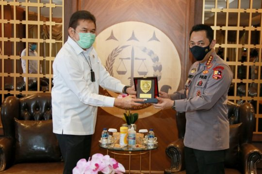 Jaksa Agung: Kunjungan Kapolri tonggak peningkatan sinergitas