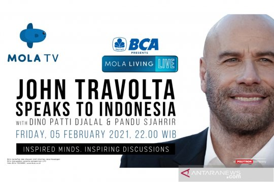 John Travolta akan bagi kisah hidup ke penggemar di Indonesia