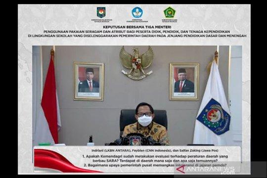 Mendagri : SKB Seragam untuk jaga eksistensi ideologi bernegara