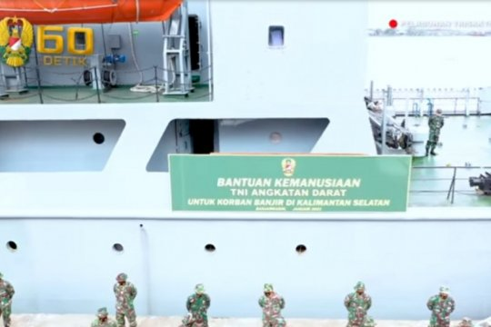 Kepala staf TNI AD kirim bantuan kemanusiaan korban banjir Kalsel