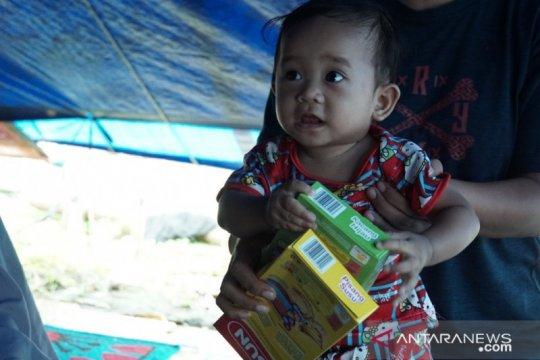 PMI distribusikan makanan tambahan untuk bayi di lokasi pengungsian