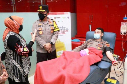120 anggota Polda Jatim jalani donor plasma konvalesen