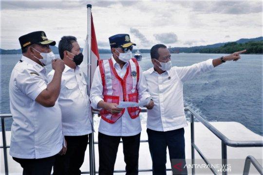 Dua menteri tinjau lokasi Ambon New Port dan pelabuhan terintergrasi