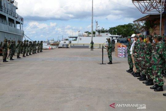 Satgas TNI-AD akhiri tugas kemanusiaan bencana banjir di Kalsel