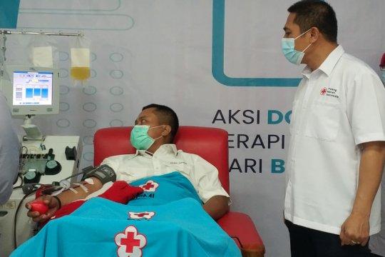 PMI Makassar terbantu donor plasma Satgas BUMN