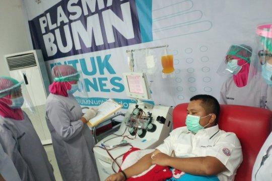 Pendonor plasma dari BUMN ajak penyintas ikut mendonor