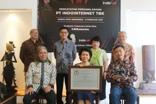 Penyedia pusat data Indointernet melantai di bursa