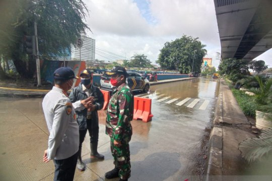 Dishub Jakarta Utara rekayasa lalu lintas akibat luapan Kali Ciliwung