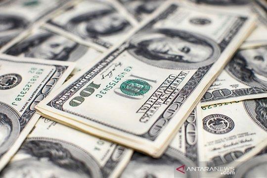 Dolar jatuh ke terendah satu minggu saat saham capai rekor tertinggi