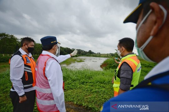 Menhub inspeksi manajeman pengelolaan air Bandara Halim Perdanakusuma
