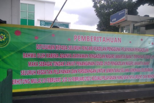 PN Jakarta Barat ditutup karena temuan COVID-19