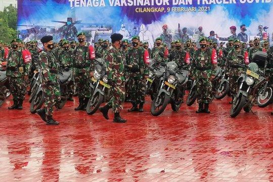 Panglima TNI pimpin apel Gelar Kesiapan Tenaga Vaksinator COVID-19