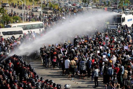 Junta Myanmar sebut protes terhadap pemerintahannya berkurang